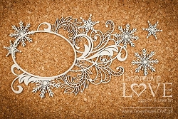 Laserowe Love Chipboard - Big frame with ornaments - Shabby Winter