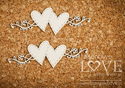 Laserowe Love Chipboard - Hearts & Ornaments - Simple Wedding