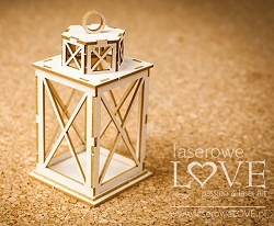 Laserowe Love Chipboard - 3D Lantern - Winter Fun