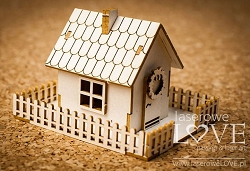 Laserowe Love Chipboard - 3D House - Winter Song