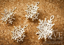 Laserowe Love Chipboard - 3D Snowflake Charms - Winter Song
