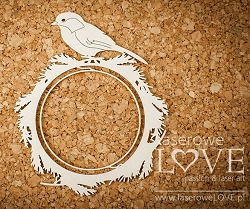 Laserowe Love Chipboard - Sparrow - Winter Song