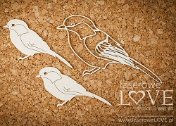Laserowe Love Chipboard - Sparrows - Winter Song