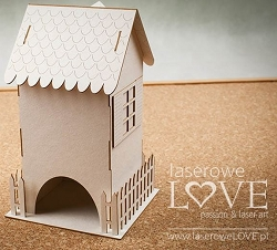Laserowe Love Chipboard - Tenement House Tea Box - Yellow Spring