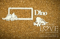 Laserowe Love Chipboard - Frame with a Triceratops - Dino Land