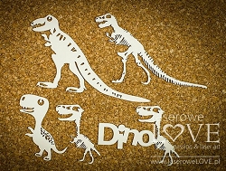 Laserowe Love Chipboard - Large Dinosaur Skeletons - Dino Land
