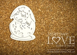 Laserowe Love Chipboard - Dinosaur in an egg - Dino Land