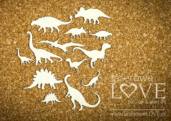 Laserowe Love Chipboard - Dinosaur Set - Dino Land