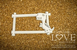 Laserowe Love Chipboard - Frame with a tyrannosaurus - Dino Land
