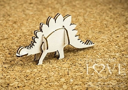 Laserowe Love Chipboard - 3D Stegosaurus - Dino Land