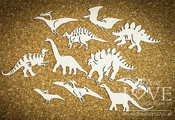 Laserowe Love Chipboard - Set of Dinosaurs - Dino Land