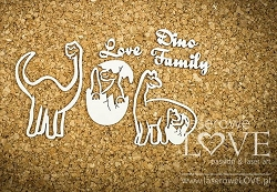 Laserowe Love Chipboard - Dino Family - Dino Land