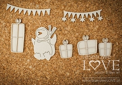 Laserowe Love Chipboard - Birthday Penguin set - Arctic Sweeties