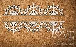 Laserowe Love Chipboard - Border with snowflakes - Arctic Sweeties