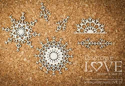 Laserowe Love Chipboard - Snowflakes #2 - Arctic Sweeties