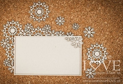 Laserowe Love Chipboard - Big rectangular frames with snowflakes - Arctic Sweeties