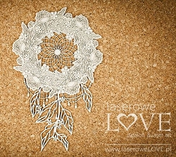 Laserowe Love Chipboard - Big Dream Catcher - Coral/Navy Romance