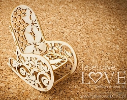Laserowe Love Chipboard - 3D Rocker - Vintage Baby