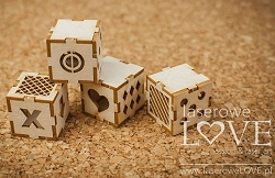 Laserowe Love Chipboard - 3D Baby Blocks - Vintage Baby