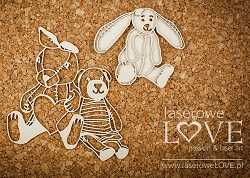 Laserowe Love Chipboard - Plushies - Vintage Baby