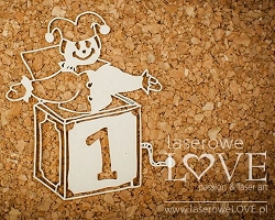 Laserowe Love Chipboard - Music Box - Vintage Baby