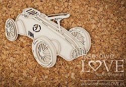 Laserowe Love Chipboard - Layered Race Car - Vintage Baby