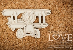 Laserowe Love Chipboard - Layered Plane - Vintage Baby