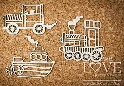 Laserowe Love Chipboard - Toys for Boys - Vintage Baby