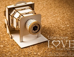 Laserowe Love Chipboard - 3D Retro Camera - Vintage Gentleman