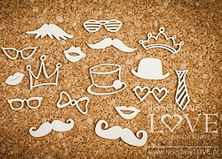 Laserowe Love Chipboard - Funny Accessories - Vintage Gentleman
