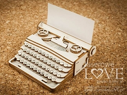 Laserowe Love Chipboard - Large 3D Typewriter - Vintage Gentleman