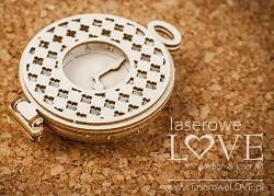 Laserowe Love Chipboard - 3D Pocket Watch - Vintage Gentleman