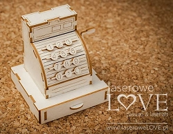 Laserowe Love Chipboard - 3D Cash Register - Vintage Gentleman