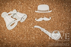 Laserowe Love Chipboard - Accessories for Man - Vintage Gentleman