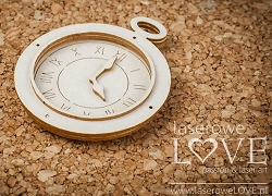 Laserowe Love Chipboard - 3D Flat Watch - Vintage Gentleman
