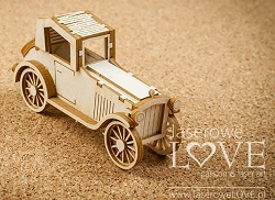 Laserowe Love Chipboard - 3D Automobile - Vintage Gentleman