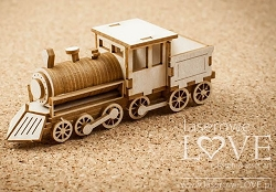 Laserowe Love Chipboard - 3D Locomotive - Vintage Gentleman