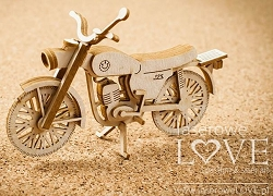 Laserowe Love Chipboard - 3D Motorcycle - Vintage Gentleman