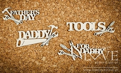 Laserowe Love Chipboard - For Daddy - Vintage Gentleman