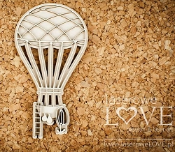 Laserowe Love Chipboard - Layered Balloon - Vintage Gentleman