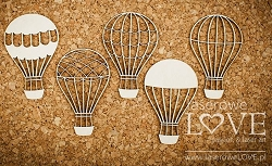 Laserowe Love Chipboard - Hot Air Balloons - Vintage Gentleman