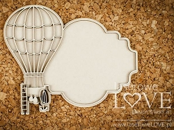 Laserowe Love Chipboard - Frame with Balloon - Vintage Gentleman