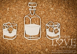Laserowe Love Chipboard - Whisky - Vintage Gentleman