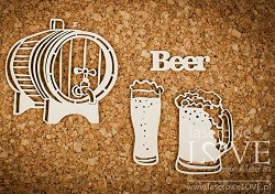Laserowe Love Chipboard - Beer - Vintage Gentleman