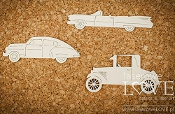 Laserowe Love Chipboard - Antique Cars - Vintage Gentleman