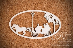 Laserowe Love Chipboard - Big Cab - Wedding Day
