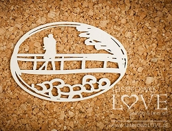 Laserowe Love Chipboard - Couple in Love on a Bridge - Wedding Day