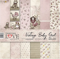 Laserowe Love - Vintage Baby Girl Collection Kit