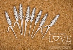 Laserowe Love Chipboard - Wheat - Holy & White