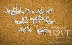 Laserowe Love Chipboard - Flourishes - Holy & White